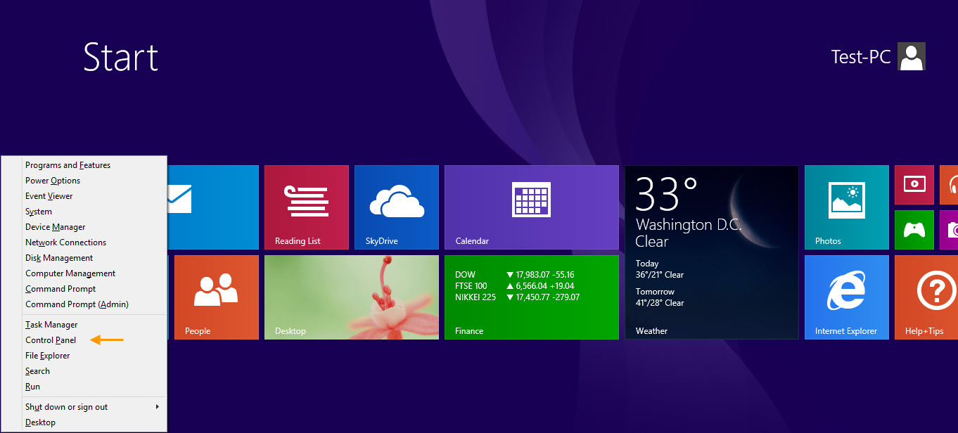 how to get to control panel in windows 8 crocotips